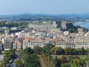 Blick zur Neuen Festung Kerkira