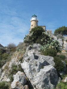 fast am Leuchtturm angekommen Kerkira