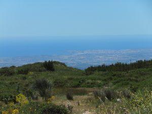 Blick vom Gebirge