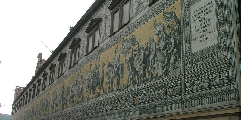 Historisches Wandbild in Dresden