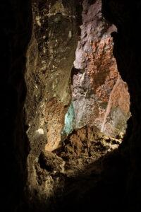Durchblick Lavahöhlen auf Lanzarote