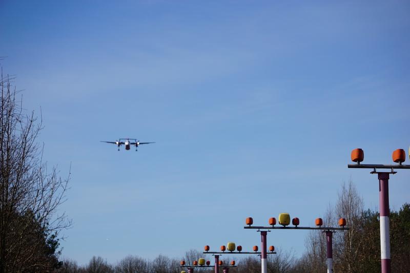 Anflug Flughafen Tegel