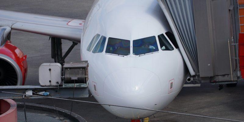 Blick auf ein Flugzeug, Sitzplatz im Flugzeug