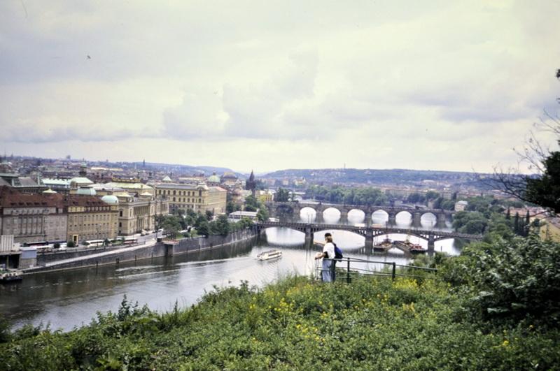 Blick über die Moldau 1992