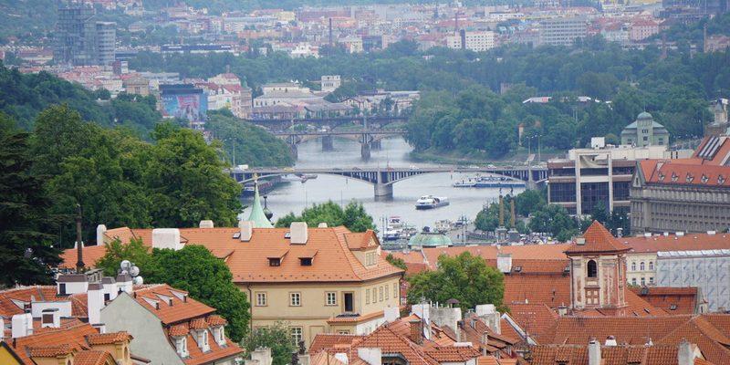 Die Moldau - ein Blick von der Burg