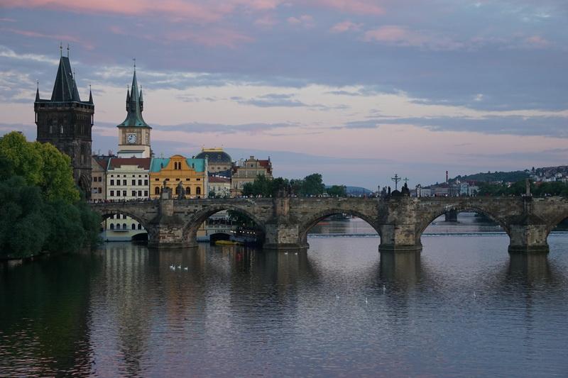 Prag gegen 19.30 Uhr