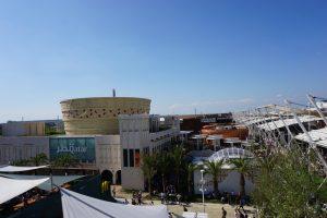 Blick auf das Geländer der Expo 2015