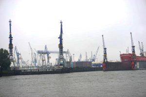 Dock im Hamburger Hafen