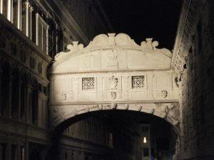 Seufzerbrücke bei Nacht