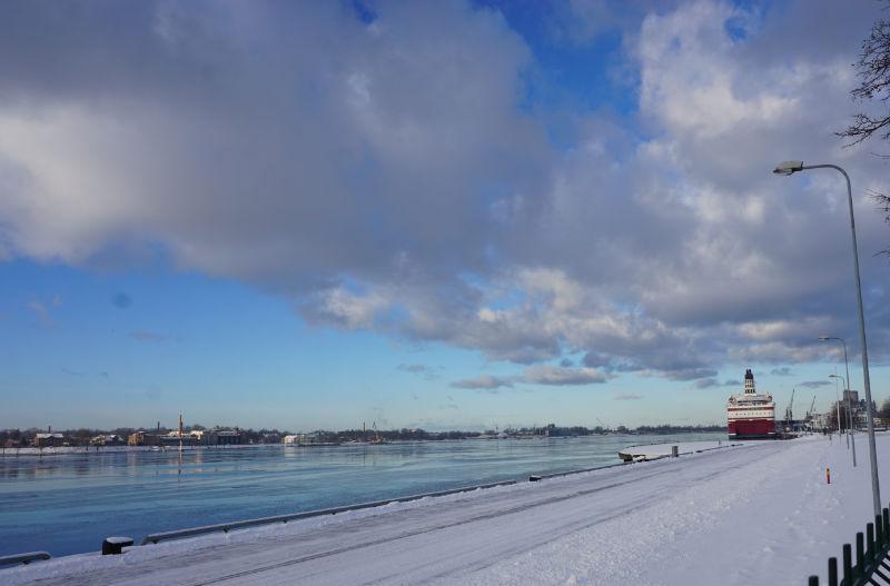 Düna in Riga - Seehafen