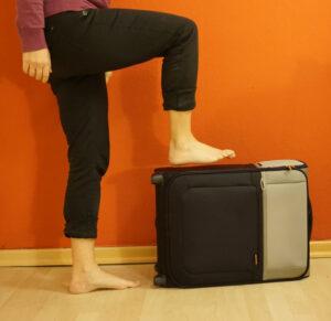 Fitness auf Reisen - Einbeinstand verschärft