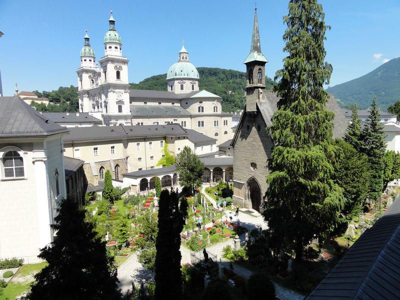 Stift St.Peter in Salzburg - Blick auf den Friedhof
