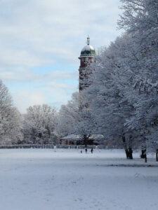 Volkspark Jungfernheide im Winter - Wasserturm