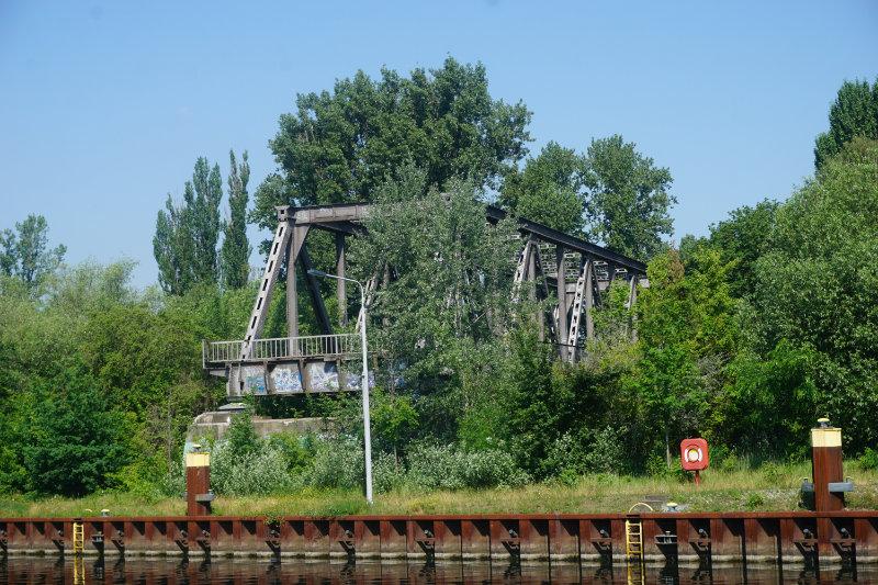 S-Bahn Siemensstadt - Brückenrest an der Spree