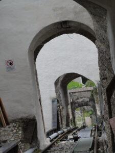 Festung Hohensalzburg - Strecke der alten Festungsbahn