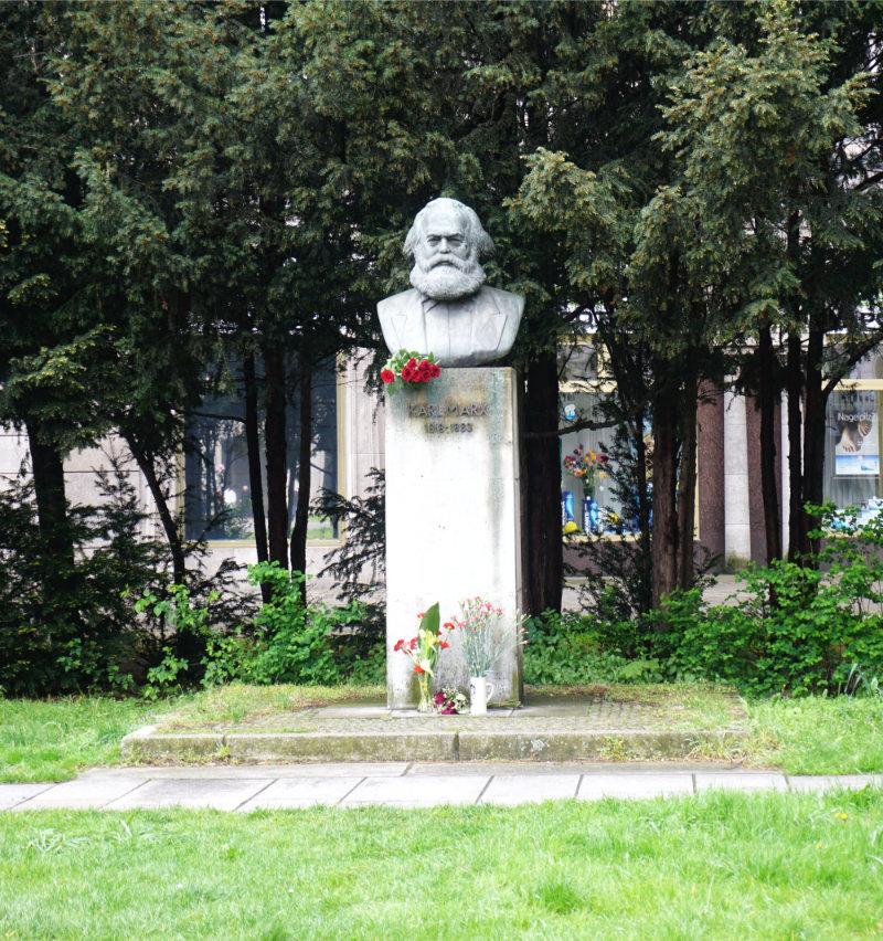 sowjetische Berlin Karl Marx Büste