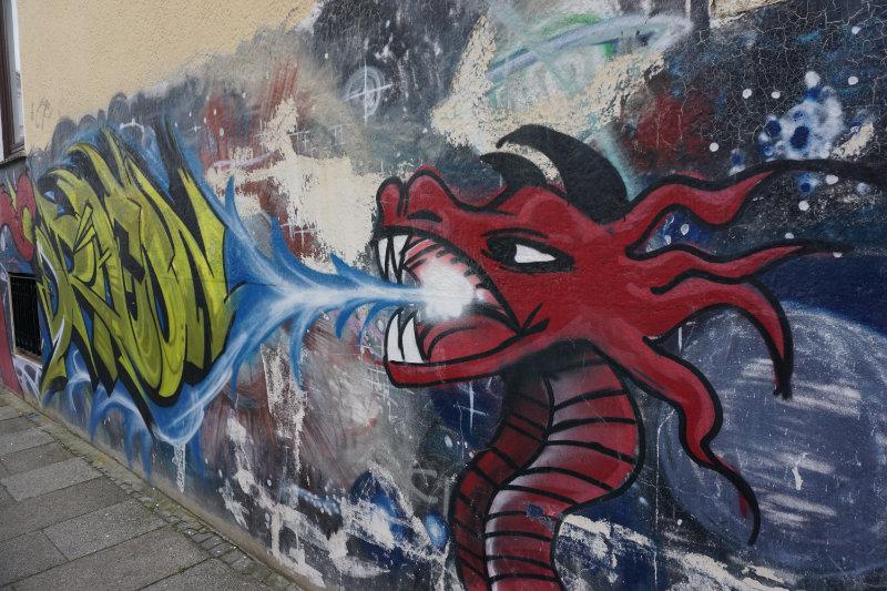 Drachen - Streetart in Bremen