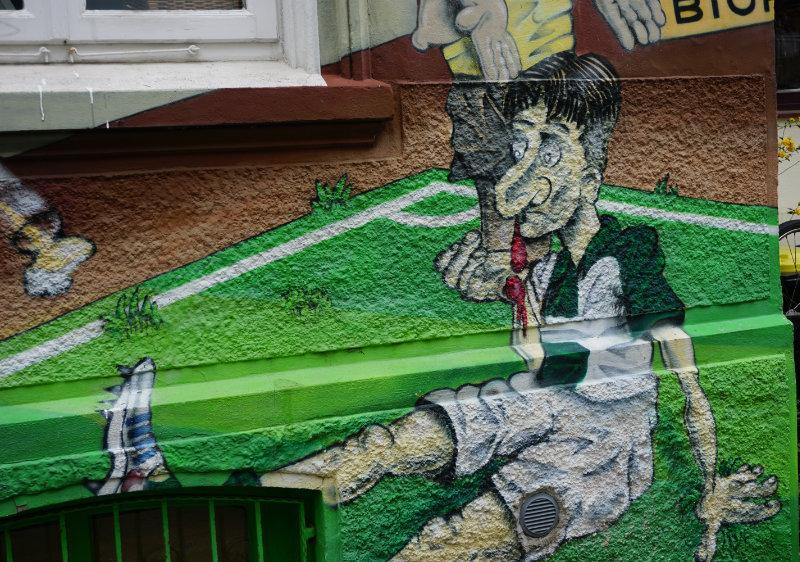 Streetart Bremen Fußball
