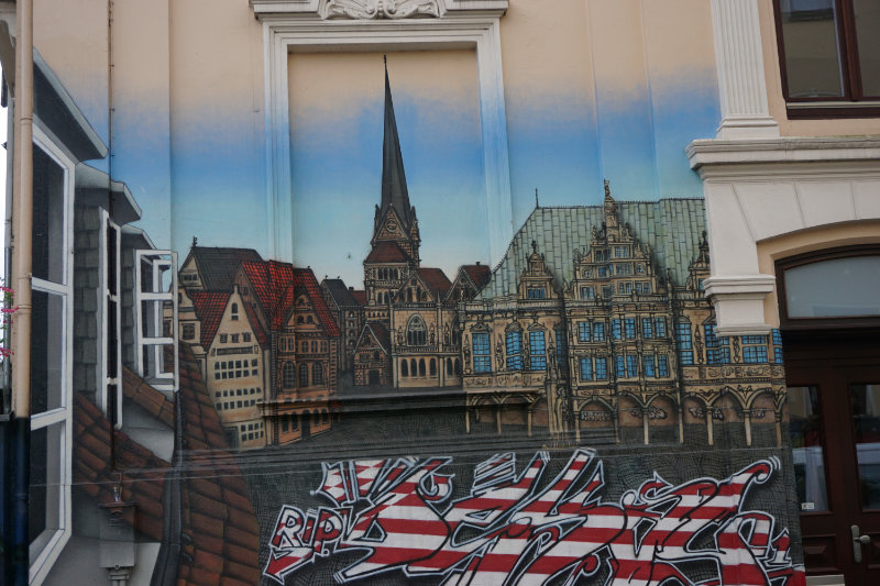 Streetart Bremen Skyline