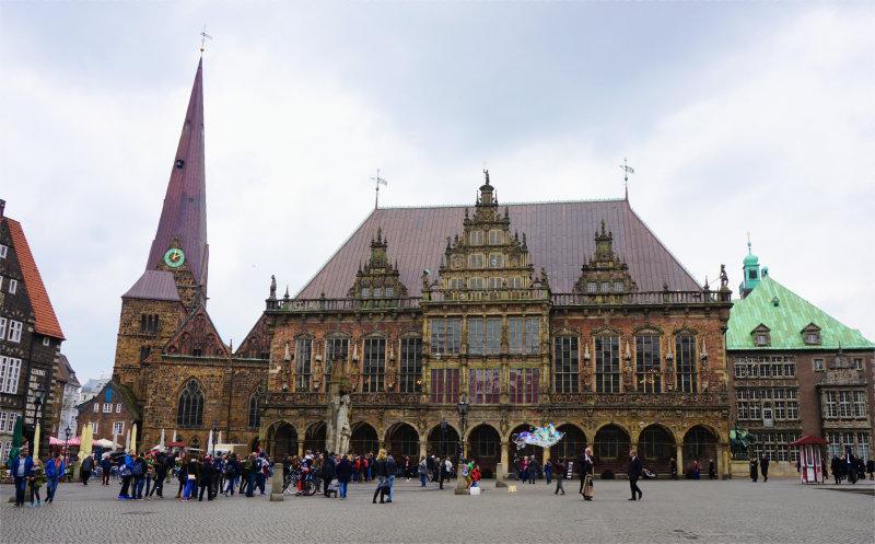 Marktplatz in Bremen - Rathaus