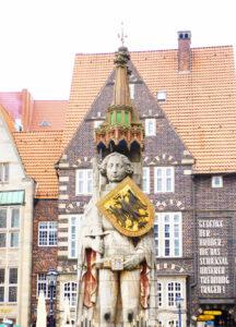 Roland auf dem Marktplatz in Bremen