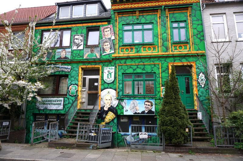 Werder Bremen Haus - Streetart