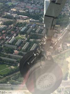 Landeanflug auf Krakau