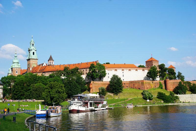 Blick über die Weichel zum Wawel