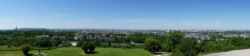 Panoramaussicht über Krakau