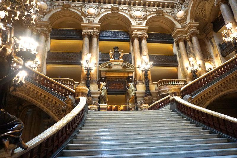 Die pomöse Haupttreppe im Palais Garnier