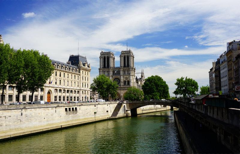 Notre-Dame am Ufer der Seine in Paris
