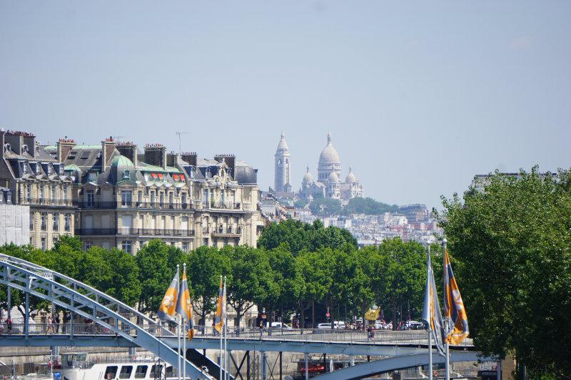 Sacre Coeur Blick von der Seine