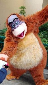 Affe Disneyfiguren erleben