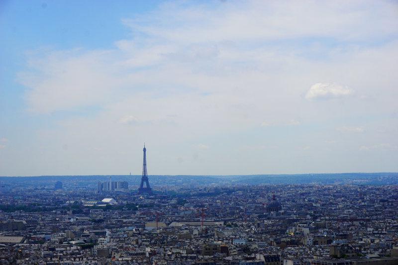 Sacré-Cœur Blick zum Eiffelturm