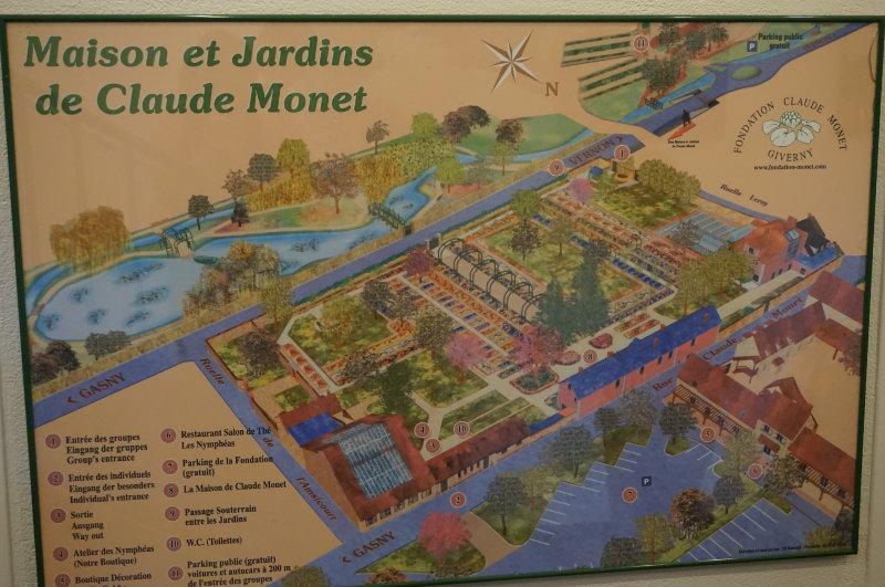 Lageplan Haus und Garten von Claude Monet