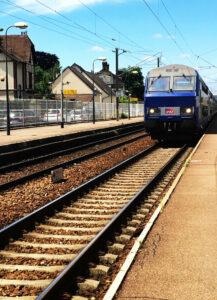 Eisenbahnfahrt in die Normandie