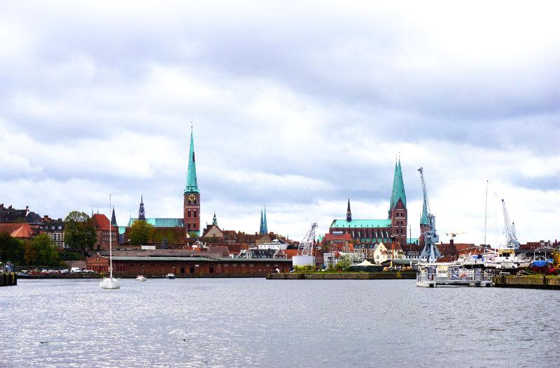 Blick nach Lübeck