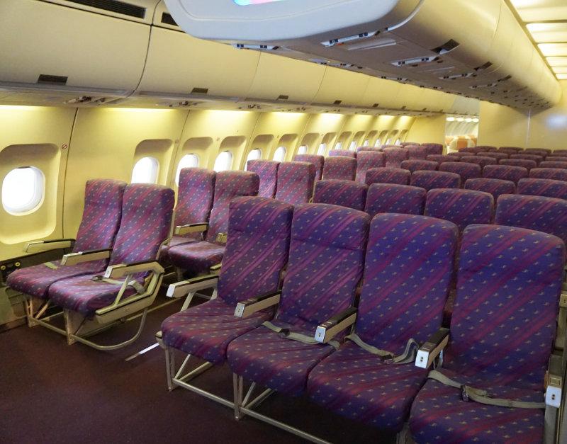 A 300 innen aeroscopia Toulouse, Sitzplatz im Flugzeug