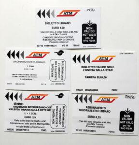 Ticket Öffentlicher Peronennahverkehr Mailand