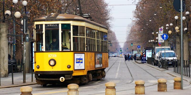Strassenbahn fahren in Mailand