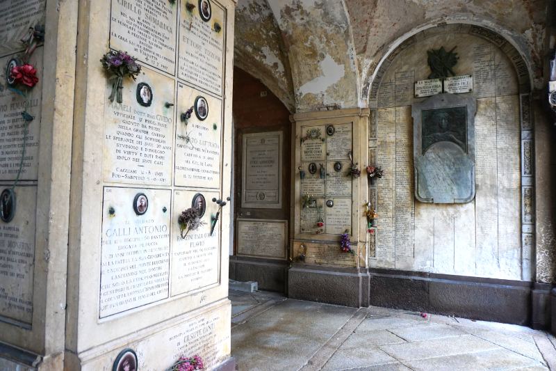 Urnengräber Cimitero Monumentale - Zentralfriedhof von Mailand