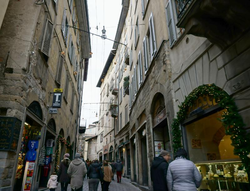 Bergamo Gassen Altstadt