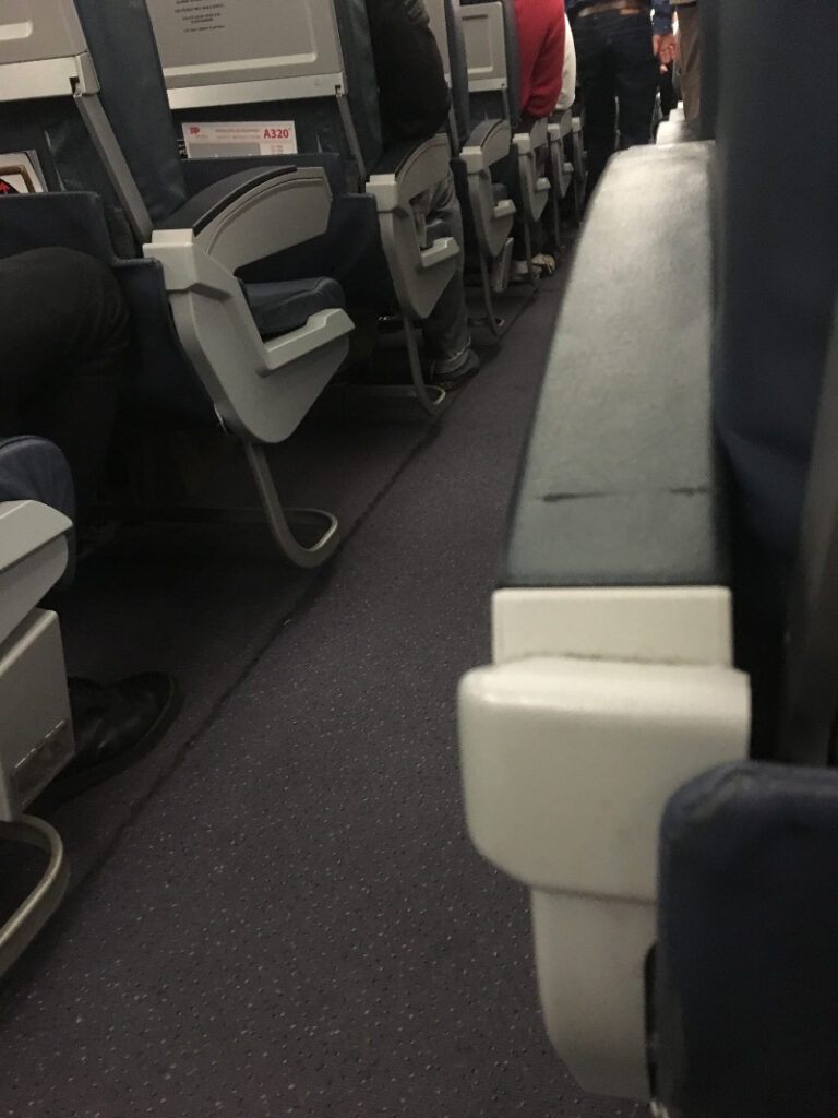 Sitzplatz im Flugzeug