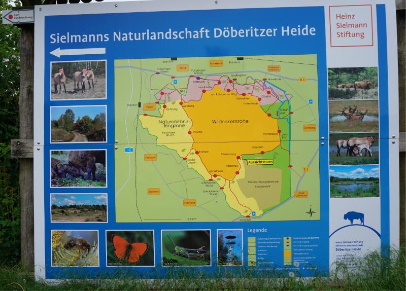 Hinweisschild zur Döberitzer Heide