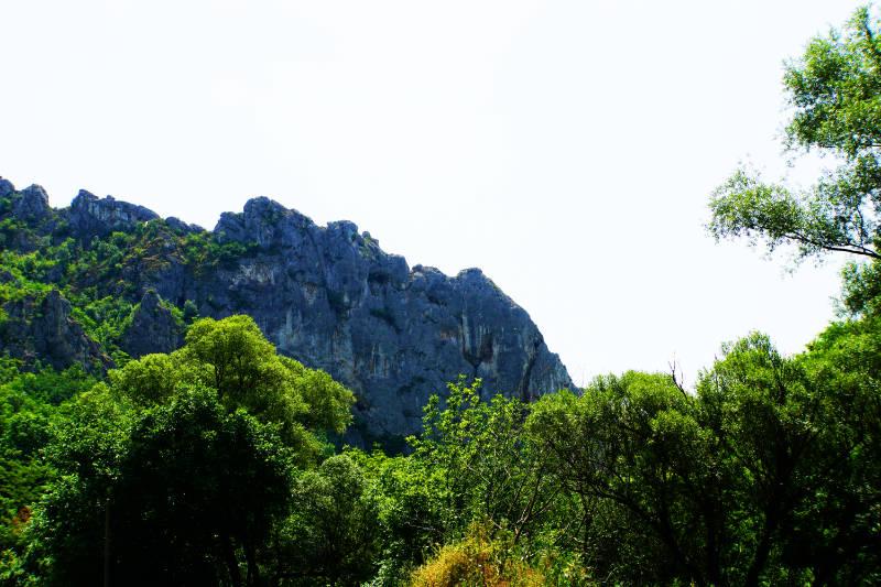 Niš Serbien Schlucht mit Kletterfelsen