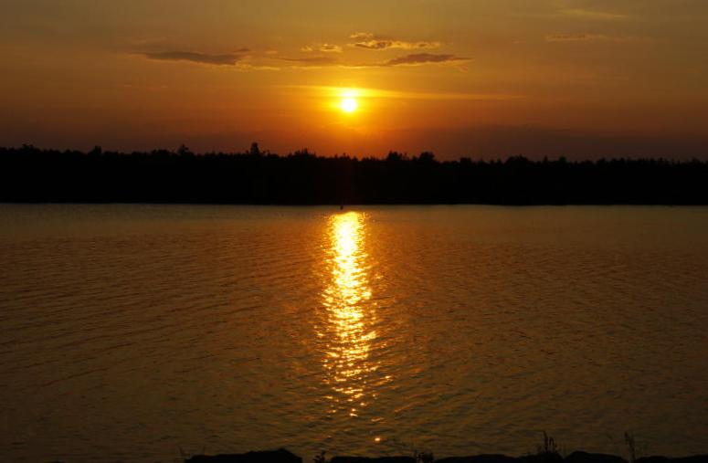 Senftenberger See sonnenuntergang