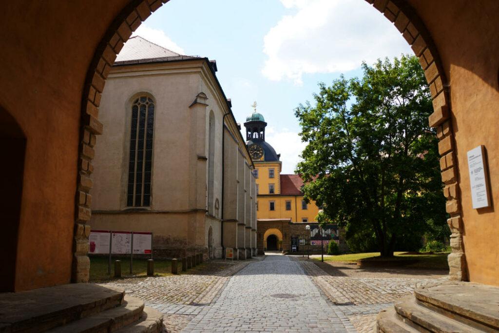 Schloss Moritzburg in Zeitz - Schlosshof