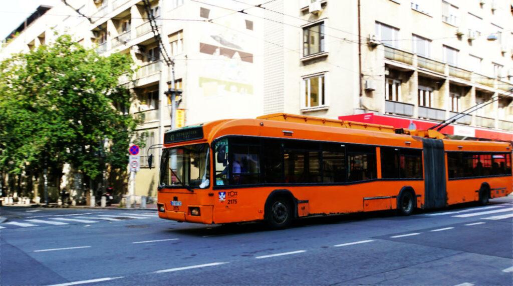Belgrad öffentliche Verkehrsmittel Bus in Belgrad