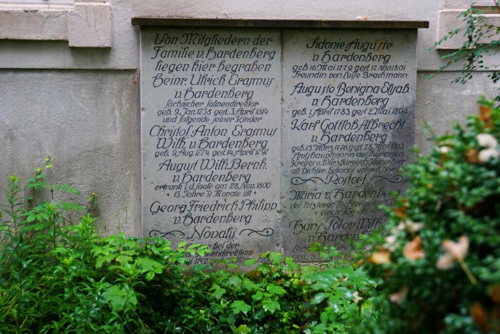 Grab von Novalis in Weißenfels