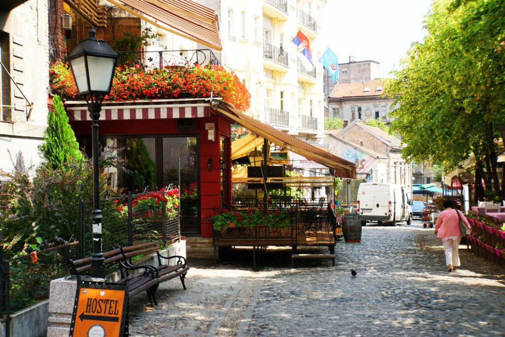 Bohemviertel in Belgrad